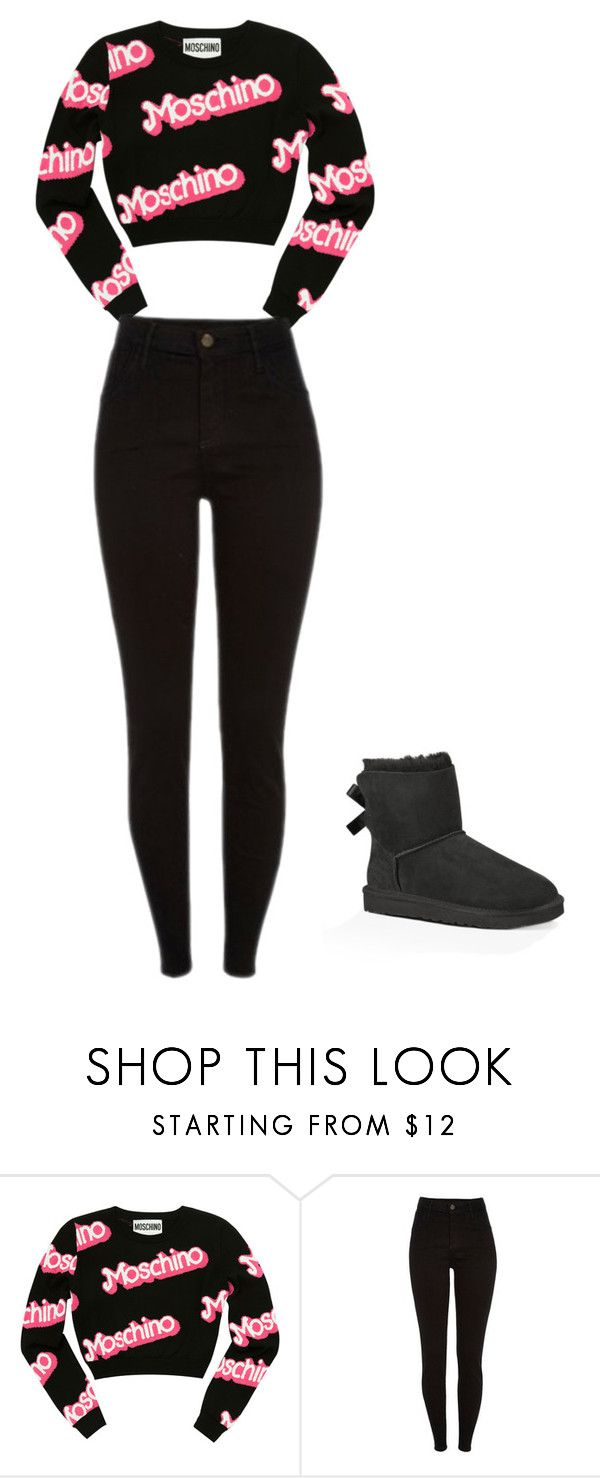 """Ugg"" by renee-9392 on Polyvore featuring Moschino and UGG Australia"