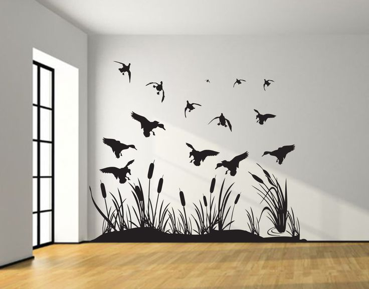 Landing Mallard Wall Decal Silhouettes – Mallard Ducks- living room, bedroom, Boy Girl Nursery Baby , duck Hunting décor, truck, car, van by JobstCo on Etsy https://www.etsy.com/listing/235033343/landing-mallard-wall-decal-silhouettes