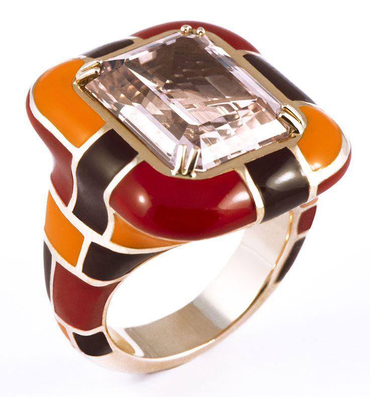 Enamel Ring by Mattioli