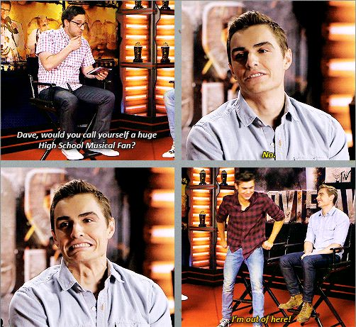 Dave Franco and Zac Efron interview GIFset  I love how Zac loves hsm