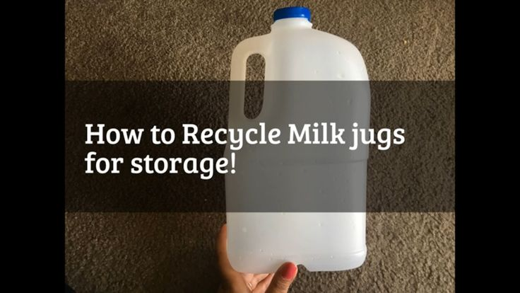 How to recycle Milk Jugs - possible storage ideas! - YouTube