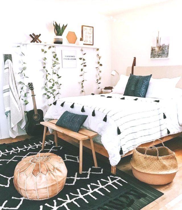Boho Cozy Bedroom Decor Wood With Black Carpet Cute Tumblr Bedroom