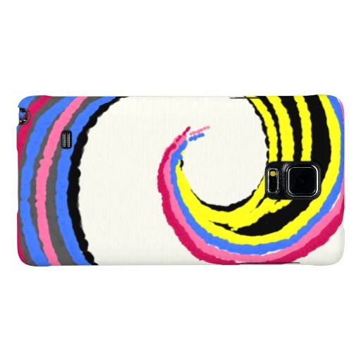 Colorful Spiral Optimistic Fun Design Galaxy Note 4 Case