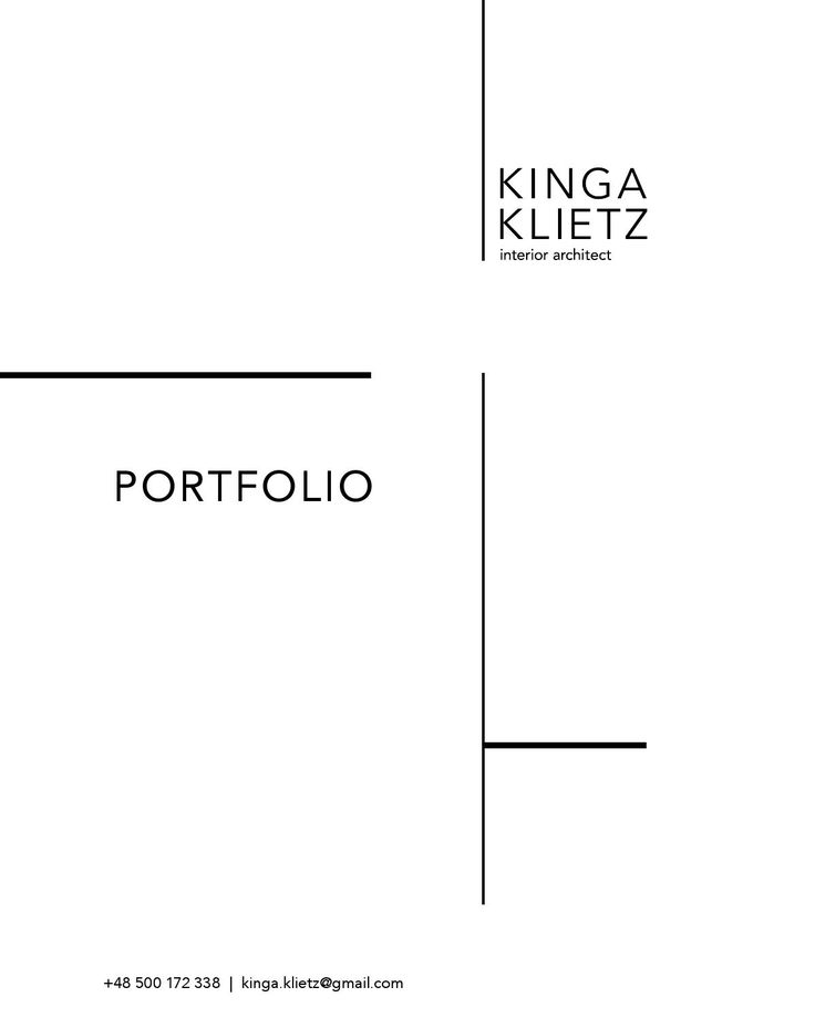Interior architecture & design portfolio by Kinga Klietz