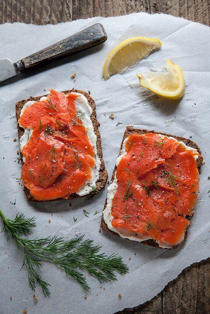 salmon tartines | Flickr - Photo Sharing!
