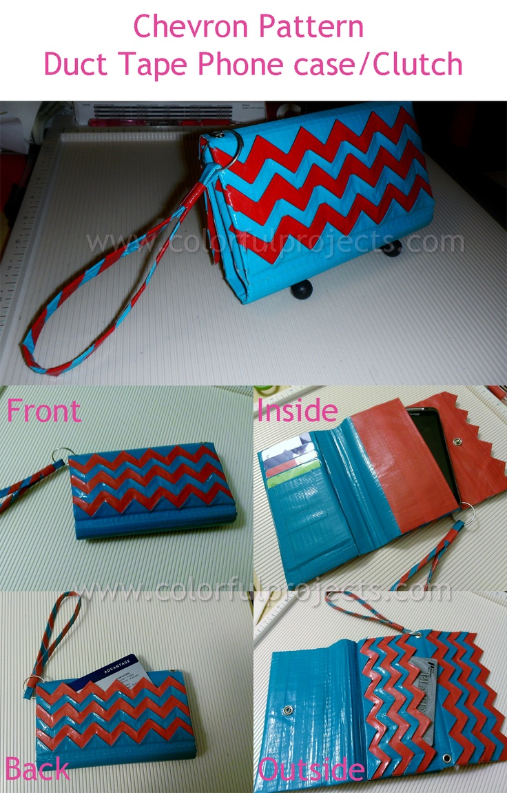 Chevron Pattern Duct Tape Phone case/clutch!