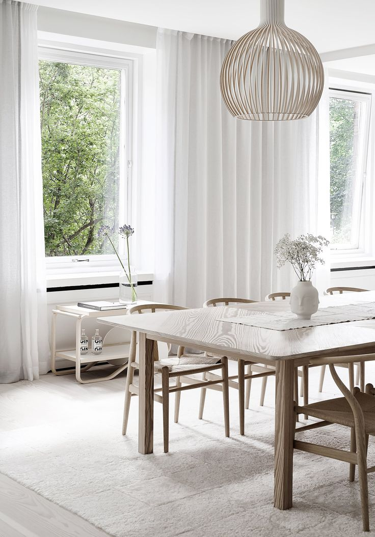 A bright white Finnish Home - via Coco Lapine Design blog