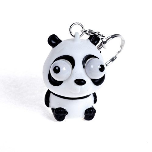 Popping Eye Panda Keyring