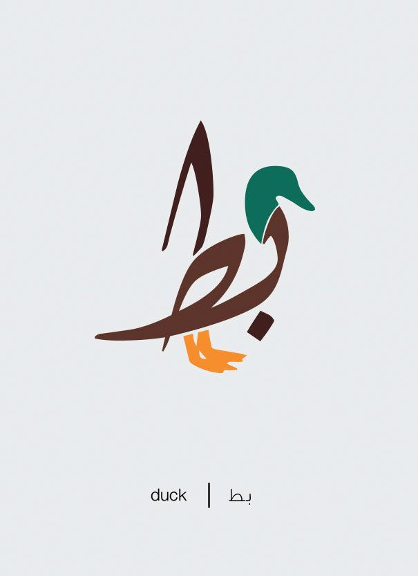 Duck. | Arabic Words Illustrated As Their Literal Meaning Are Amazing