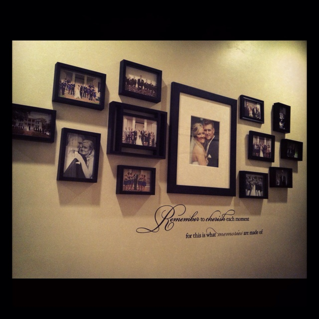 Wedding Wall- I love this so much! I am going to do this after my wedding. Love it!