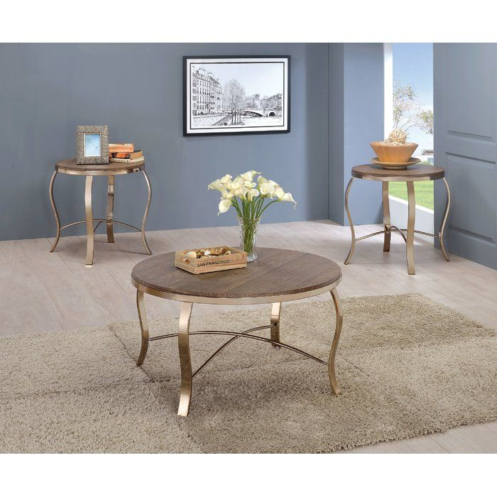 Kallie 3 Piece Coffee Table Set Coffee Table 3 Piece Coffee