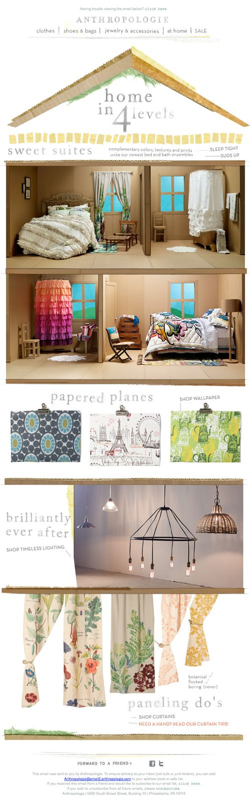 Anthropologie Home email design