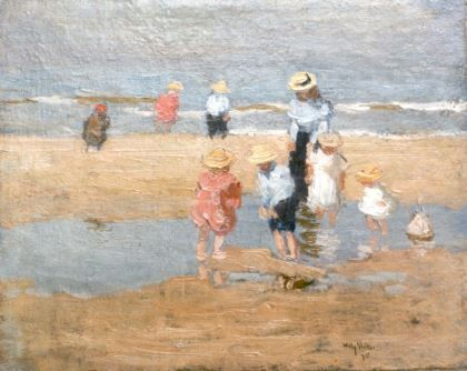 Jan Willem 'Willy' Sluiter 1873-1949  Pootje baden