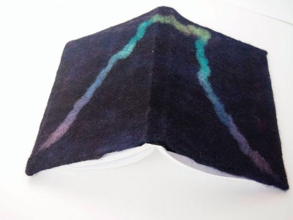 Journal scetch book with hand felted cover
