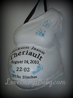 Belly Cast - Old Style by LoveBumpBaby, via Flickr