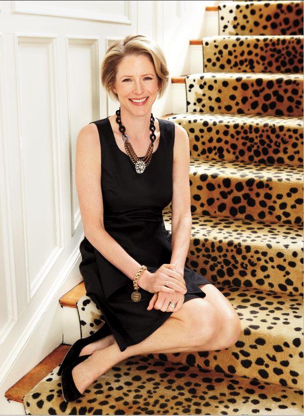 Love, love love Kristen van Ogtrop's (of Real Simple) leopard stair runner!