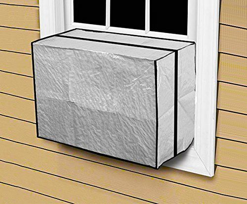 "Outdoor Window AC Air Conditioner Cover Heavy Duty 18″H x 27″W x 16″D  Outdoor Window AC Air Conditioner Cover Heavy Duty 18""H x 27""W x 16""D Contains: 1 Cover Measures: 18""H x 27""W x 16""D Material: Heavy Duty Reinforced Polyethylene Fits window air conditioners over 10,000 BTU""s. Elastic strap to secure cover.  http://www.airconditionercenter.com/outdoor-window-ac-air-conditioner-cover-heavy-duty-18h-x-27w-x-16d/"