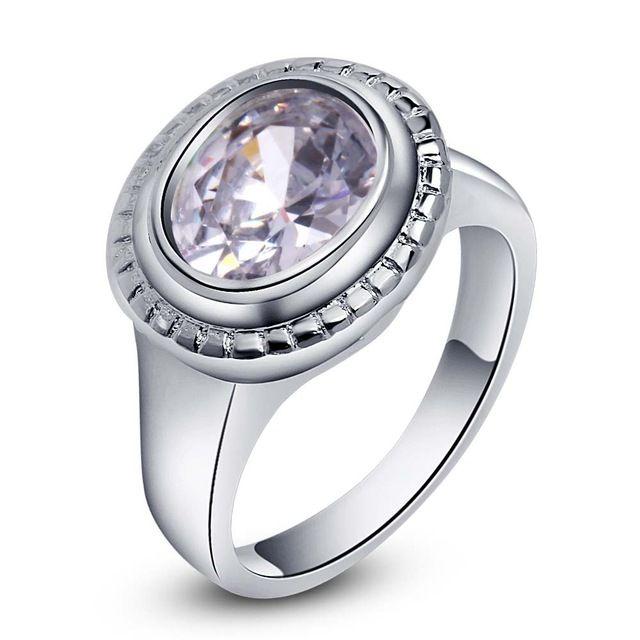 Дизайн моды блестящие циркон Овальные Серебряные позолоченные Кольца Мода Ювелирные Кольца Женщины и Мужчины,/XBLEBSVY IINURXMU