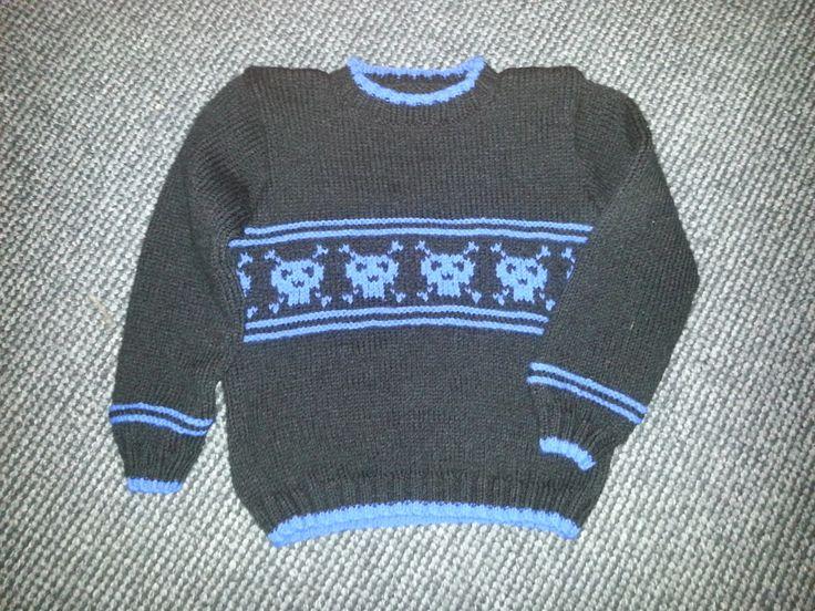 Den kreative nørkler: Mine kreationer - Sweater str. 4 år - DROPS model nr 23-26