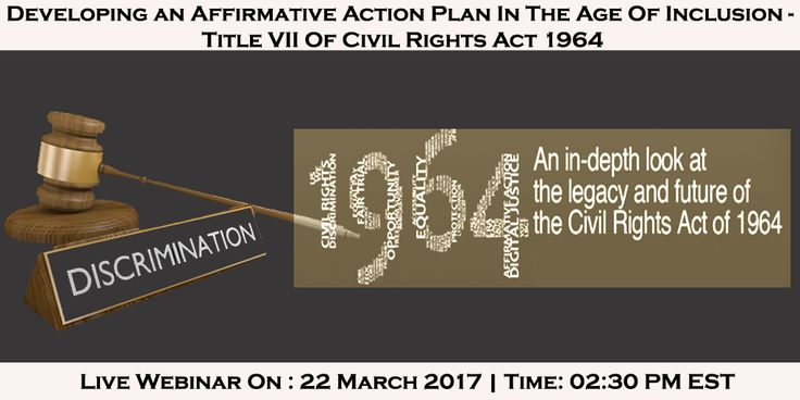 Webinar On Affirmative Action Plan  Title Vii Of Civil Rights