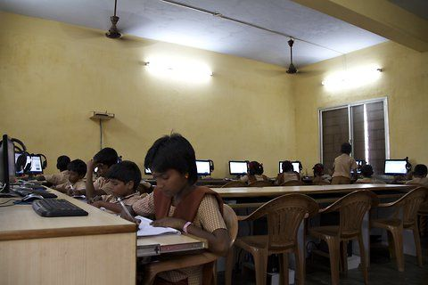 Lacking teachers and textbooks, India's schools turn to the Khan Academy to survive