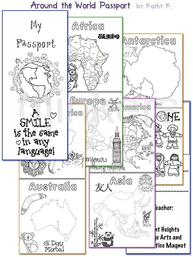 Clipart for world studies, travel, culture & diversity by DJ Inkers