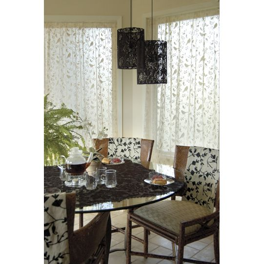 White Bristol Garden Lace Curtains By Heritage