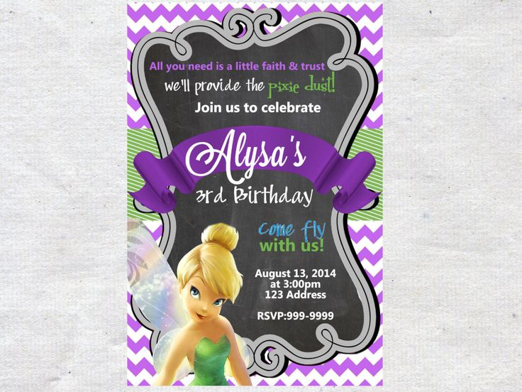 The 25 best Tinkerbell invitations ideas – Tinkerbell Birthday Invitations