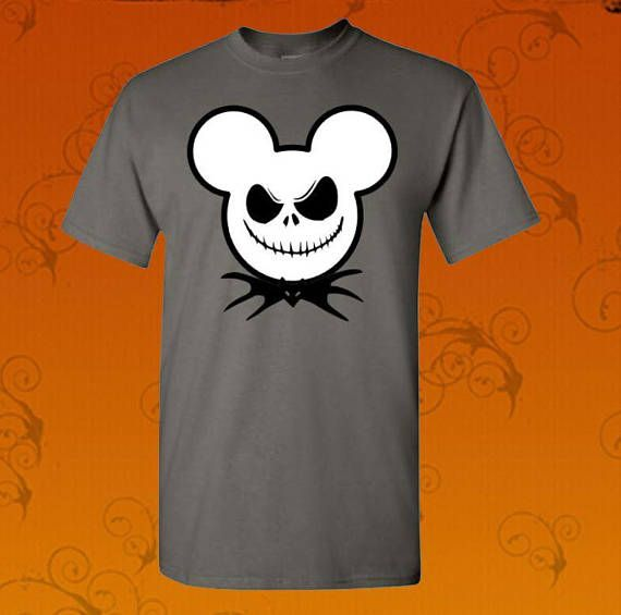 Custom made Jack Skeleton theme shirt. Available in black, gray or white shirts. In sizes youth and adult. Sizing for this item is under the Youth, Mens and Womens size chart depending on what cut you would like.  To upgrade to a Raglan tee, add this to your order: