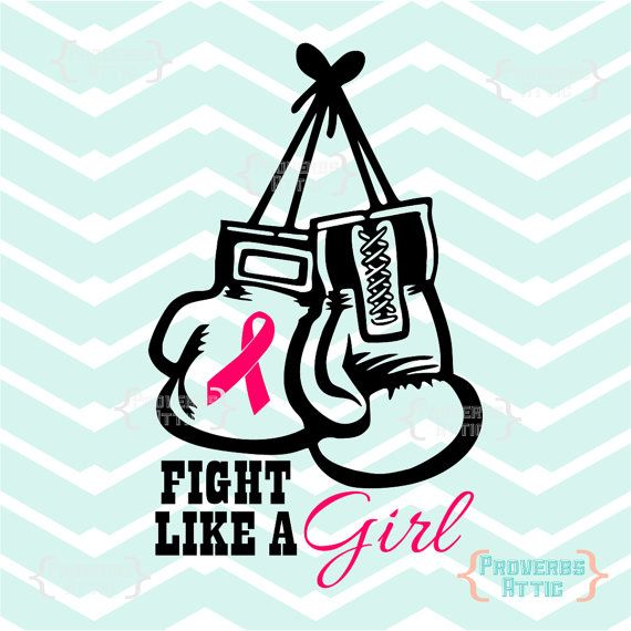 Fight Like A Girl Cancer Ribbon Boxing Gloves Car Decal Vinyl Printable Screen