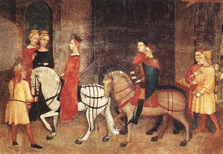 Ambrogio Lorenzetti - Effects of Good Government on the City Life (detail)