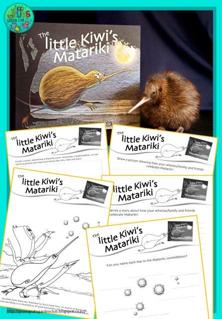 FREE DOWNLOAD ~The Little Kiwi's Matariki~ follow up activities! {Green Grubs Garden Club Blog}