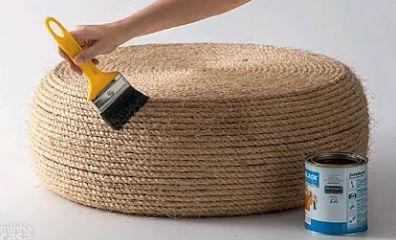 Initiales GG ... : DIY : un pouf dans un vieux pneu!