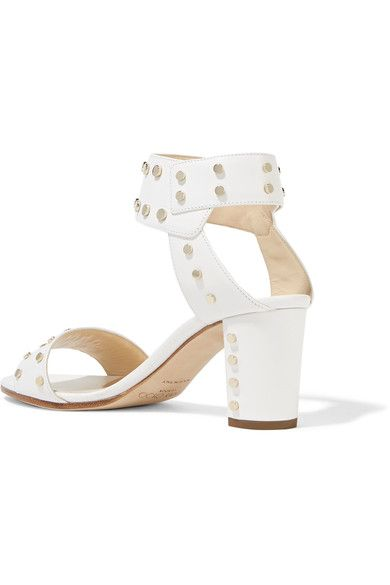 Jimmy Choo - Veto Studded Leather Sandals - White - IT36.5