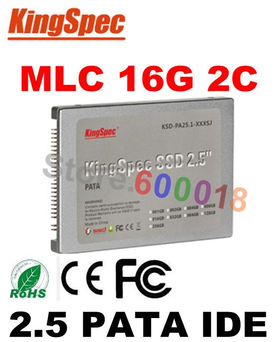 L Kingspec 2.5 Inch 44PIN PATA IDE SSD 16GB 2-C Solid State Disk Flash Hard Disk For HP computer drive internal hard drives