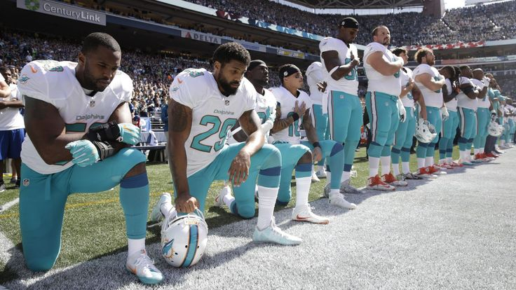 NFL teams have the legal right to fire protesting players, as Trump is asking them to do, but so far they are choosing not to.