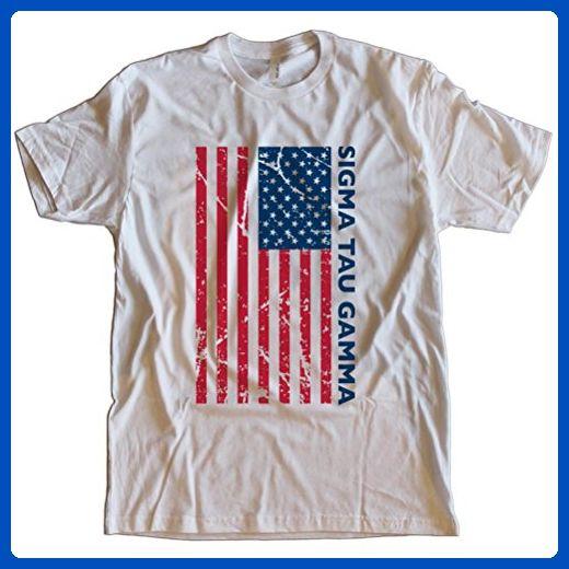 Fast Yeti Tees Adult Sigma Tau Gamma July 4th America Tee FT Medium White - Holiday and seasonal shirts (*Amazon Partner-Link)
