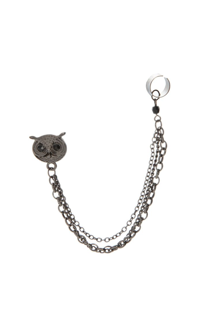 how to put on ear cuffs with chain