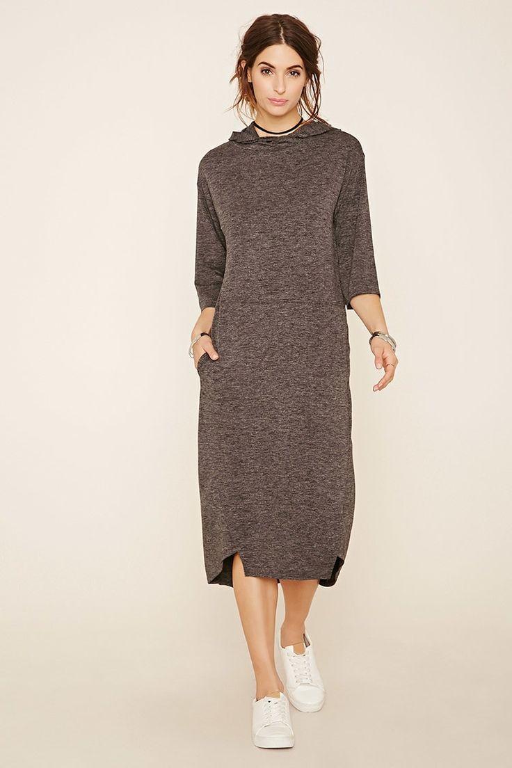 Contemporary Hooded Midi Dress