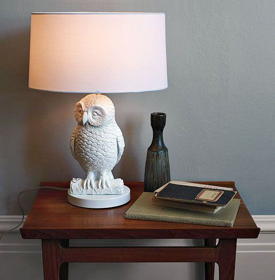 #: Westelm, Owl Tables, Owl Lamps, Tables Lamps, Cute Owl, White Whit, White Owl, West Elm, Kids Rooms