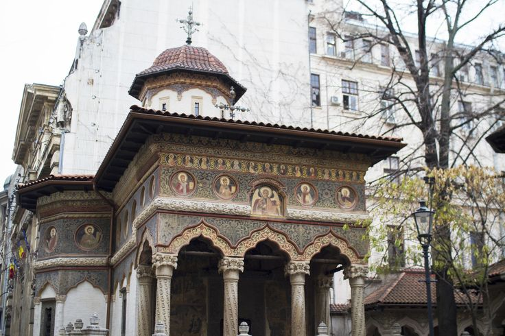 Stavropoleos Monastery, also known as Stavropoleos Church during the last century when the monastery was dissolved, is an Eastern Orthodox monastery for nuns in central Bucharest, Romania. Its church is built in Brâncovenesc style.