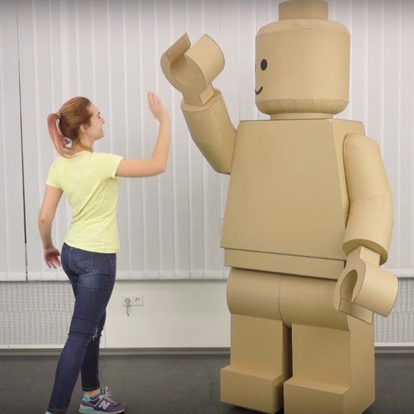 How to Turn Yourself into an Adult Size LEGO Minifig with Cardboard