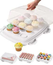 If you only need to transport 12 cupcakes, this one works great. Especially for high-topped cupcakes ;-)