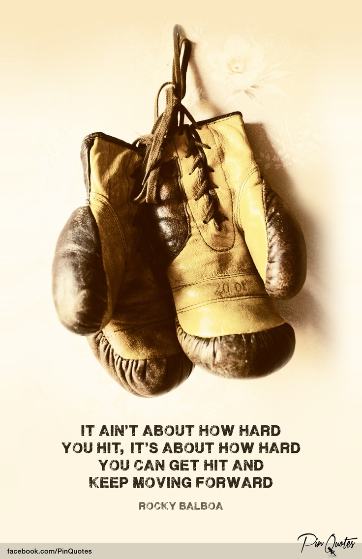 "Rocky Balboa Life Is Hard Quote: ""It Ain't How Hard You Hit, It's About How Hard You Can"