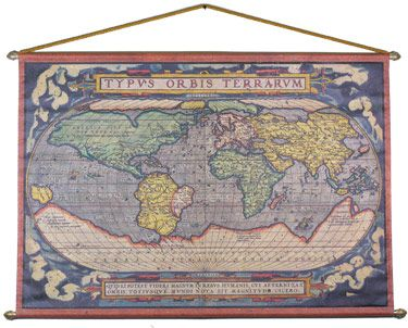 Old World Map - 1570 - Abraham Ortelius