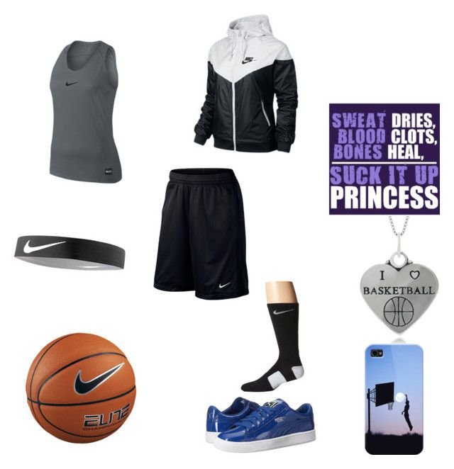 """Nike Basketball Outfit"" by baller12101 ❤ liked on Polyvore featuring Journee Collection, Puma, NIKE and Casetify"