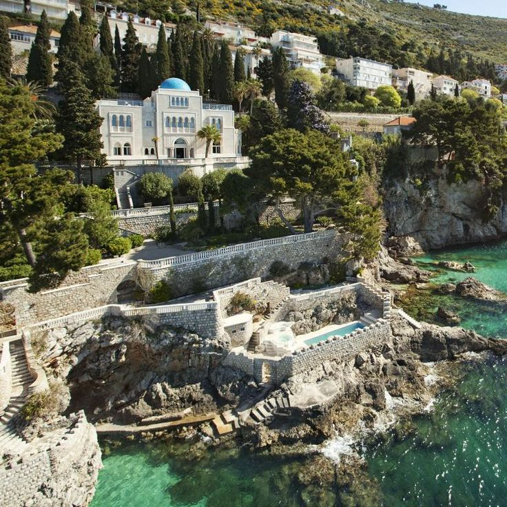 """Villa Sheherezade Dubrovnik, Croatia. Villa Sheherezade is a private seafront palace located in Dubrovnik, Croatia, and on Game of Thrones stands in for the lavish home of merchant-prince and devoted Targaryen supporter Illyrio Mopatis. In Season 5's premiere (""""The Wars To Come""""), Varys and Tyrion Lannister discuss the future of the Seven Kingdoms on the villa's balcony overlooking the Adriatic Sea (on the show, the Narrow Sea), as the plots of Westeros and Essos become more and more…"""