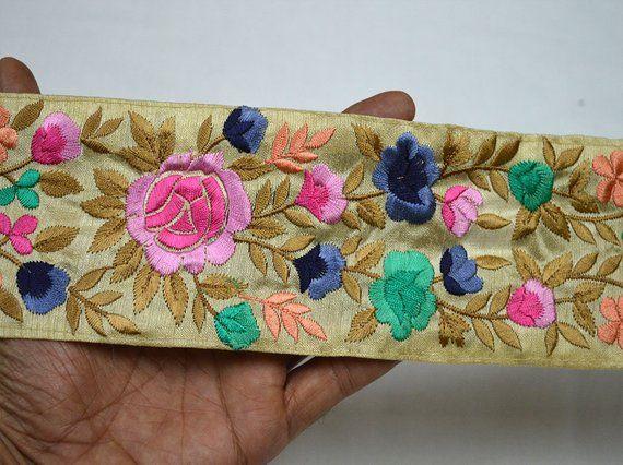 Pink Sewing Saree Trim Indian Fabric Trim By The Yard Etsy In 2020 Indian Fabric Fabric Trim Lace Pink Dress