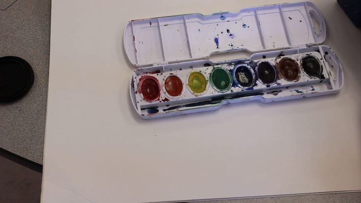 Elementary Art Lesson: How to Paint With Prang Watercolors!