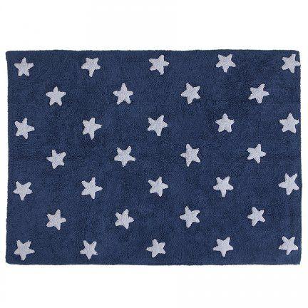Dywan do prania w pralce - Lorena Canals STARS - granatowy